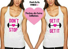 Don't Stop Get It Get It. BFF Tank. Swole Sisters Tank. 2 Pack Set. Value Deal. Sold by Oooh La La Fitness on Etsy