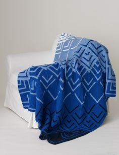 Yarnspirations.com - Caron Cascading Colors Mitered Blanket  - Patterns    Yarnspirations
