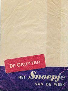 Idere week een Snoepje van de Week halen bij De Gruyter