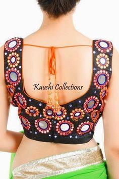 Kaushi Collections: Mirror work Sarees & Blouses