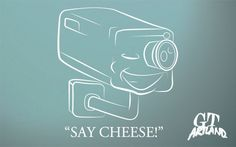 3D Say Cheese Surveillance Decals for Home/Car/Business  Safety and Protection  #GTArtland