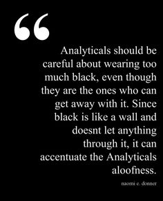 Analyticals are Type 4's