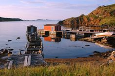 Twillingate, Newfoundland. The red fishing shack is now a personal fishing museum that a lifelong resident has created.