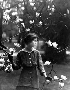 Edna St. Vincent Millay at Vassar College, 1914.  Photo by Arnold Genthe