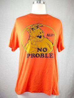 Vintage '80s Alf t-shirtNo Problem by BlueVelvetAustin on Etsy