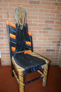 """I want this so bad for my future arts and crafts room. Love Edward Munsch's """"The Scream"""" painting.. The Scream chair. $495.00, via Etsy."""