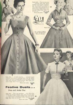 Lana Lobell catalogue images: 1950s