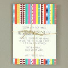 Alejandra Suite  Sarape Destination Wedding by JPstationery, $4.50