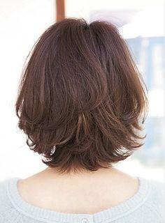 Nice layered look Thin Hair Cuts, Medium Hair Cuts, Short Hair Cuts For Women, Medium Hair Styles, Curly Hair Styles, Short Shag Hairstyles, Cute Short Haircuts, Hairstyles With Bangs, Hair Day