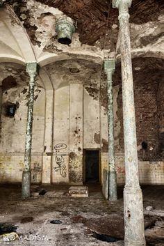 Abandoned psychiatric hospital in Owińska, Poland.