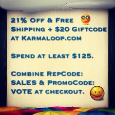 Karmaloop's Current Best Deal: 21% Off & Free Shipping + $20 Giftcode . Spent at least $125. Combine RepCode: SALES& PromoCode: VOTE at checkout. Don't sleep! This kind of offer does not come around often! For more Karmaloop Discount Codes, visit http://www.Karmaloop-Codes.com #coupon #free #sale #karmaloop #vote #freeshipping #discounts