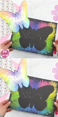 Butterfly art project for kids! Print this free butterfly template - craft - Butterfly art project for kids! Print out this free butterfly template Butterfly art project for ki - Spring Art Projects, Spring Crafts For Kids, Art Crafts For Kids, Art Project For Kids, Art Projects For Toddlers, Kid Art Projects, Kids Diy, Simple Art Projects, Easter Crafts Kids