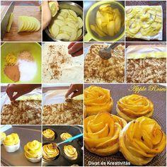[anuncios]  Esta es una forma distinta de presentar una típica tarta de manzana, os aseguro que es muy fácil de hacer, después de hacer la primera rosa, las demás son coser y cantar :)…