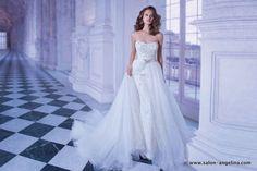 свадебное платье с баской Demetrios