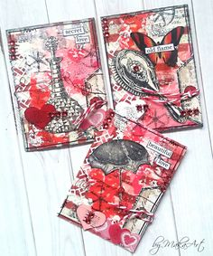 "My mixed media ATCs ""Love""... Welcome again!       During my last overseas ATC swap I was ask to participate in an interesting event. All participants got the same produ..."