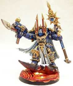 Captain Akil. Terminator Sorcerer of the Thousand Sons.