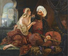 ♥ School of Paul Emil Jacobs - The Pasha's Favourite (Ali Pasha and Kira Vassiliki) Drawing School, Visit Egypt, Aliens And Ufos, Royal Academy Of Arts, European Paintings, Victorian Paintings, Gustave Dore, Pre Raphaelite, Old Master