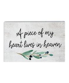 Breathe new life into your walls with this charming sign featuring clean lines and an understated color scheme that pairs effortlessly with existing décor.Full graphic text: A piece of my heart lives in W x H x DWoodReady to hangImported I Miss My Family, Shelfie, Thoughts And Feelings, Piece Of Me, Wall Signs, Of My Life, Make Me Smile, Color Schemes, Heaven