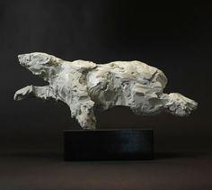 Mark Coreth - Swimming Polar Bear Bronze