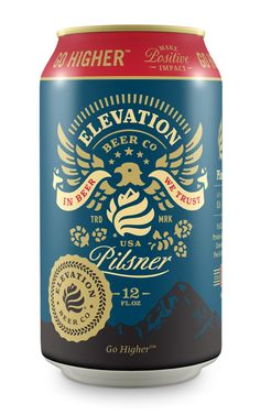 Elevation beer co pilsner can big