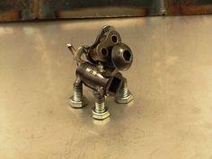 Cornhash the metal dog sculpture by Brown Dog Welding, via Flickr