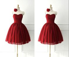 Short Lovely Red Sweetheart Prom Dress with Bow Fashion Wedding Party Dress Lace UP Back Prom Dresses