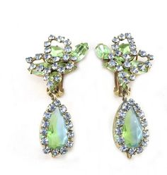 House of Lavande 1950's Unsigned Schreiner Earrings