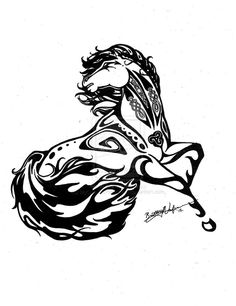 Wind Dancer - Custom Horse Tattoo by ~MyOwnEnchantment on deviantART