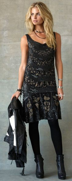 Ralph Lauren Eliza Beaded Dress