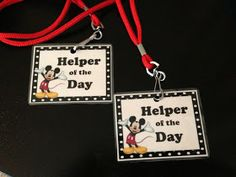 Lanyards for helper of the day, student of the day, birthday person?