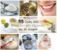 50 Usos del Bicarbonato de sodio en el hogar