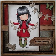 Gorjuss Birthday Card by: Wyvernsian Homemade Birthday Cards, Homemade Cards, Magnolia, Shabby Chic Cards, Tape Crafts, Tampons, Pretty Cards, Card Sketches, Copics