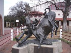 """Statue of Bill Pickett at the Stockyards. – Fort WorthThe most famous black cowboy entertainer in American history"""", Bill Pickett was born December 5, 1870 in the Jenks-Branch community of Williamson County."""