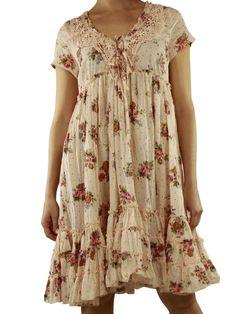 Wide dress Candy flowered Nadir