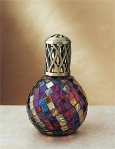 Moroccan Mosaic Magenta Oil Lamp
