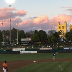 Turned out to be a great night for a game after all!  #sacramento #rivercats #giants