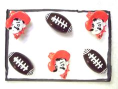 Bulletin Board OSU University FOOTBALL 6 pc Handmade Decorative Push Pin Thumb Tacks by CandCCraftSupplies on Etsy