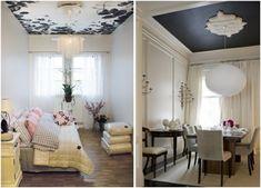 idees-deco plafond moderne rosette-blanche