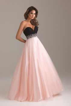 Shop 2013 Prom Dresses A Line Floor length Black Pink Sweetheart Tulle Rhinestone & gowns inexpensive, formal & vogue party dresses boutique online.    Might get this for Prom ! <3