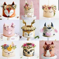 Pretty Cakes, Cute Cakes, Beautiful Cakes, Amazing Cakes, Sweets Cake, Cupcake Cakes, Comida Picnic, Bolos Naked Cake, Cake Designs For Girl