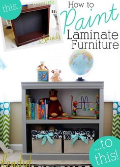 How to paint laminate furniture - Great tips for transforming outdated laminate furniture pieces!