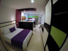 Amplias Loft Suites en 2 ambientes, cerca de todo y con todo lo que necesitas. : )  www.aquahotelcali.co