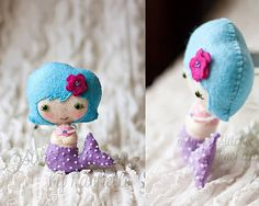 Simple Stitches by Rachelle: {another little mermaid, felt doll}