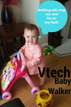 vtech sit stand learning walker got Amelia walking! See close up pictures of…