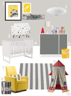 My Modern Nursery #69: Robot March from Little Auggie