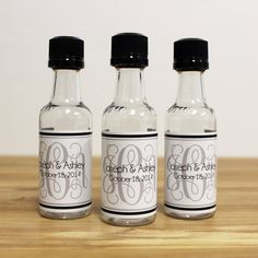Custom Mini Bottle Favors Liquor Labels and Empty by LiquidCourage, $25.00