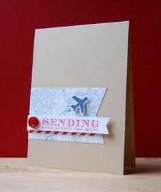 Sending Hugs Card by Cristina Kowalczyk for Papertrey Ink (January 2013)