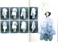 The White Series. Part Aya Takeshima Sketchbook Layout, Textiles Sketchbook, Fashion Sketchbook, Sketchbook Inspiration, Work Inspiration, Fashion Sketches, Croquis Fashion, Creative Communications, Fashion Design Portfolio