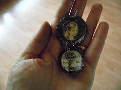 A storybook bottlecap pendant