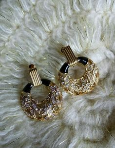 Vintage Signed Givenchy New York /Paris Clip Back Earrings in Jewelry & Watches, Vintage & Antique Jewelry, Costume   eBay